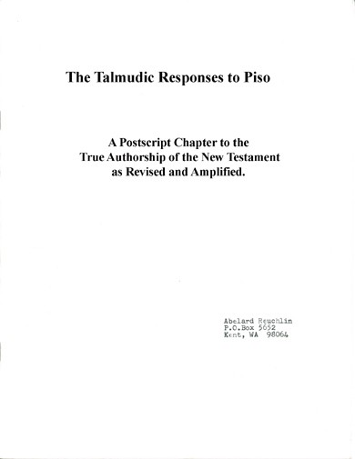 Talmudic Responses to Piso